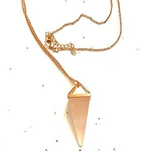 Rose Gold Pink Stone Necklace